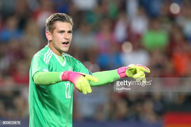 Julian Pollersbeck during the UEFA U21 European Championship Group C football match Italy v Germany in Krakow Poland on June 24 2017
