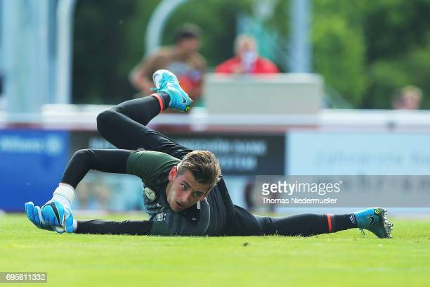 Julian Pollersbeck is seen during the Germany U21 training on June 13 2017 in Dreieich Germany