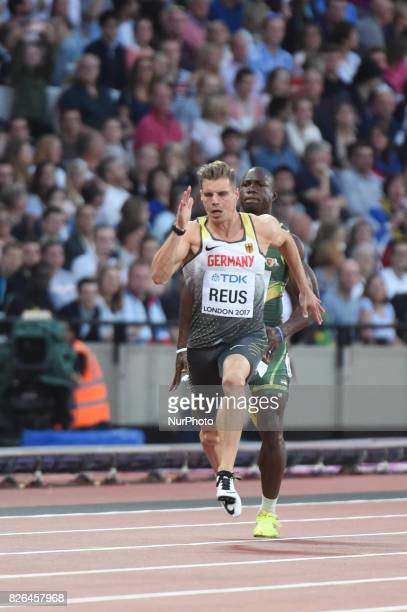 Julian REUS Germany during 100 meter 1st round at London Stadium in London on August 4 2017 at the 2017 IAAF World Championships athletics