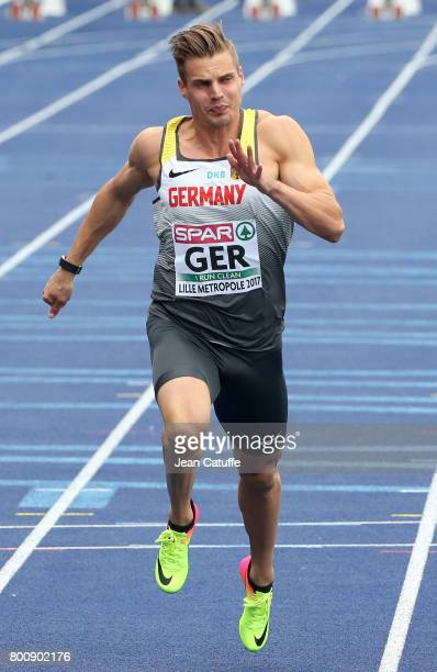 Julian Reus of Germany competes in the 100m during day 2 of the 2017 European Athletics Team Championships at Stadium Lille Metropole on June 24 2017...