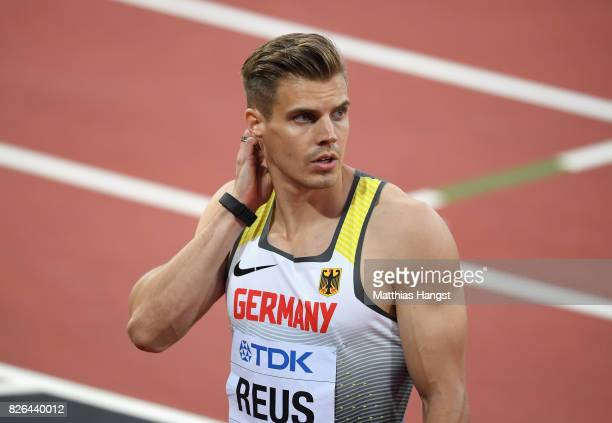 Julian Reus of Germany competes in the Men's 100 metres heats during day one of the 16th IAAF World Athletics Championships London 2017 at The London...