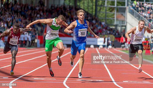 Julian Reus of TV Wattenscheid 01 winning the competition at Auestadium Kassel during Day 1 of the German Championships in Athletics on June 18 2016...