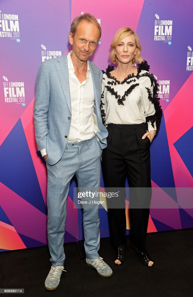 Julian Rosefeldt and Cate Blanchett attend the LFF Connects: Julian Rosefeldt & Cate Blanchett event at the 61st BFI London Film Festival on October 6, 2017 in London, England.
