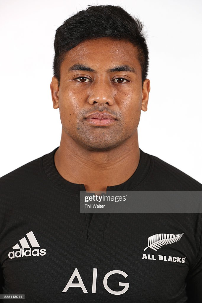 Julian Savea poses for a portrait during a New Zealand All Black portrait session on May 29, 2016 in Auckland, New Zealand.