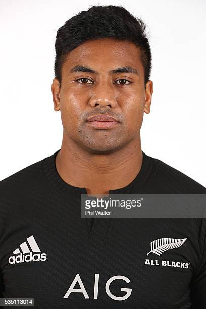 Julian Savea poses for a portrait during a New Zealand All Black portrait session on May 29 2016 in Auckland New Zealand