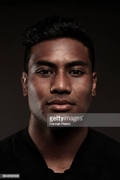 Julian Savea poses for a portrait during the New Zealand All Blacks Headshots Session on June 11 2017 in Auckland New Zealand