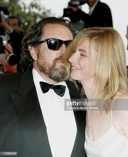 Julian Schnabel and Anne Consigny during 2007 Cannes Film Festival 'Le Scaphandre et le Papillon' Premiere at Palais des Festival in Cannes France