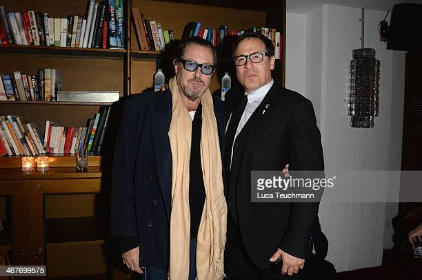 Julian Schnabel and David O Russell attend the American Hustle after party with Grey Goose at Soho House Berlin on February 7 2014 in Berlin Germany