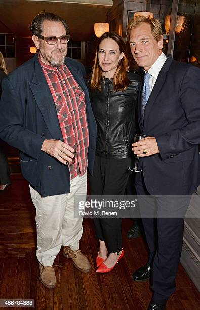 Julian Schnabel Claire Forlani and Julian Sands attend an exclusive dinner hosted by Charles Finch Mulberry and PORTER Magazine for Julian Schnabel...