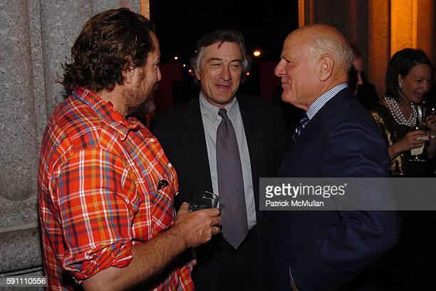 Julian Schnabel Robert De Niro and Barry Diller attend Vanity Fair hosts their Tribeca Film Festival dinner at The State Supreme Courthouse on April...