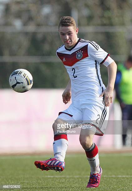 Julian Schwermann of Germany in action during the international friendly match between U16 Italy and U16 Germany on March 18 2015 in Recanati Italy