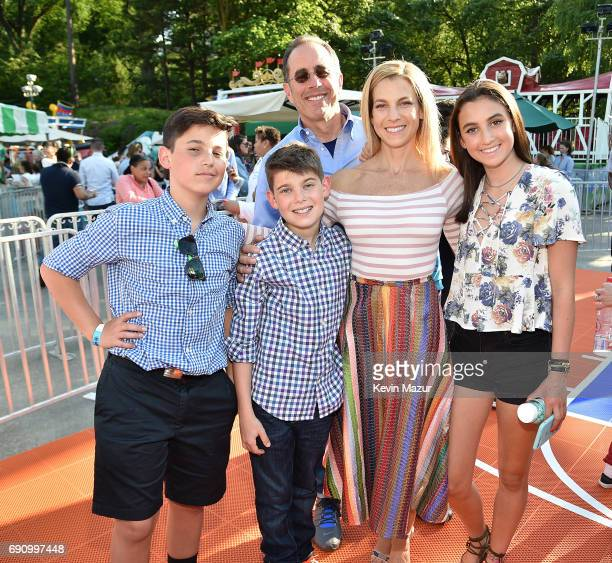Julian Seinfeld Jerry Seinfeld Shepherd Seinfeld Jessica Seinfeld and Sascha Seinfeld attend GOOD Foundation's 2017 NY Bash at Victorian Gardens in...