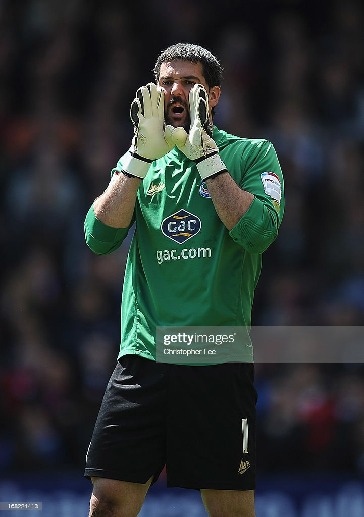 Julian Speroni of Crystal Palace during the npower Championship match between Crystal Palace and Peterborough United at Selhurst Park on May 04, 2013 in London, England.