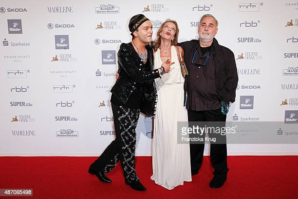 Julian Stoeckel Trixi Millies and Udo Walz attend Madeleine At Goldene Henne 2015 on September 05 2015 in Berlin Germany