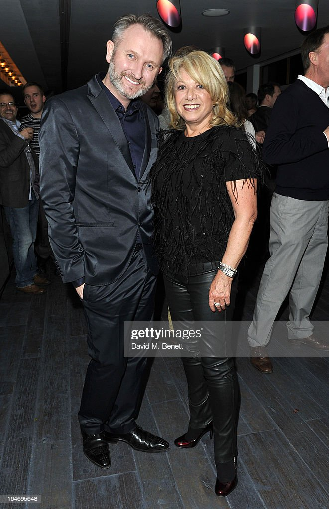 Julian Stoneman and <a gi-track='captionPersonalityLinkClicked' href=/galleries/search?phrase=Elaine+Paige&family=editorial&specificpeople=207114 ng-click='$event.stopPropagation()'>Elaine Paige</a> attend the Jersey Boys 5th anniversary performance after party at the Paramount Club on March 26, 2013 in London, England.