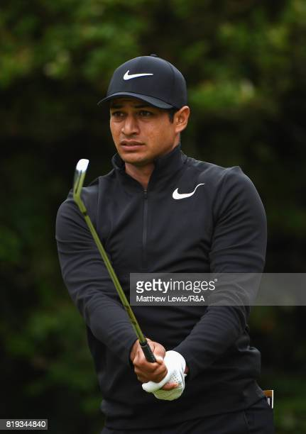 Julian Suri of the United States on the fifth tee during the first round of the 146th Open Championship at Royal Birkdale on July 20 2017 in...