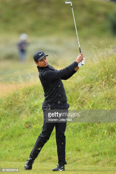 Julian Suri of the United States on the first hole during the first round of the 146th Open Championship at Royal Birkdale on July 20 2017 in...