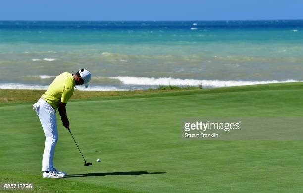 Julian Suri of the United States putts during day three of The Rocco Forte Open at Verdura Golf and Spa Resort on May 20 2017 in Sciacca Italy