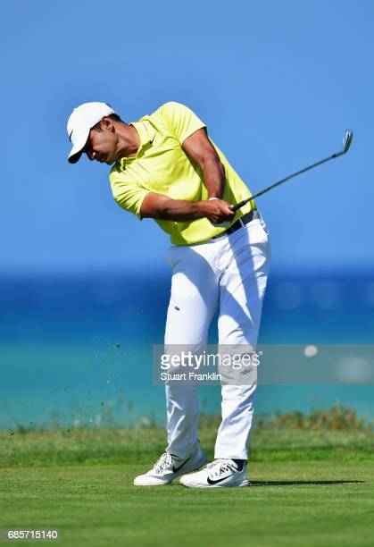 Julian Suri of the United States tees off during day three of The Rocco Forte Open at Verdura Golf and Spa Resort on May 20 2017 in Sciacca Italy