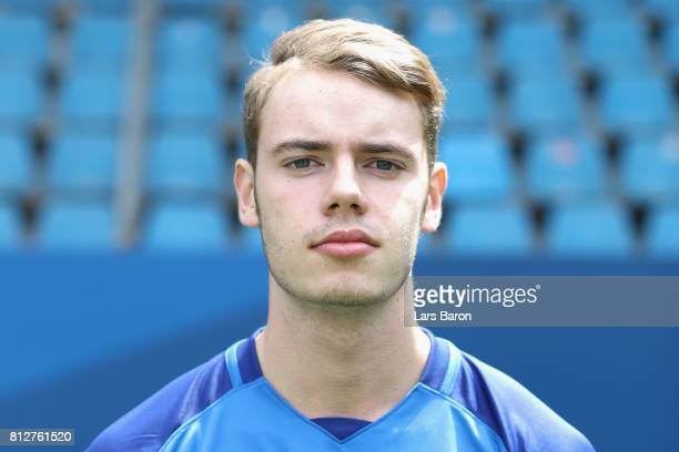 Julian Tomas of VfL Bochum poses during the team presentation at Vonovia Ruhrstadion on July 11 2017 in Bochum Germany