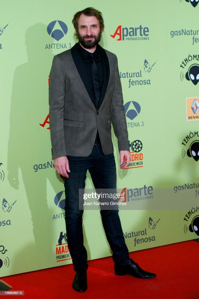 Julian Villagran attends 'Fenomenos' Premiere at Callao Cinema on November 21, 2012 in Madrid, Spain.