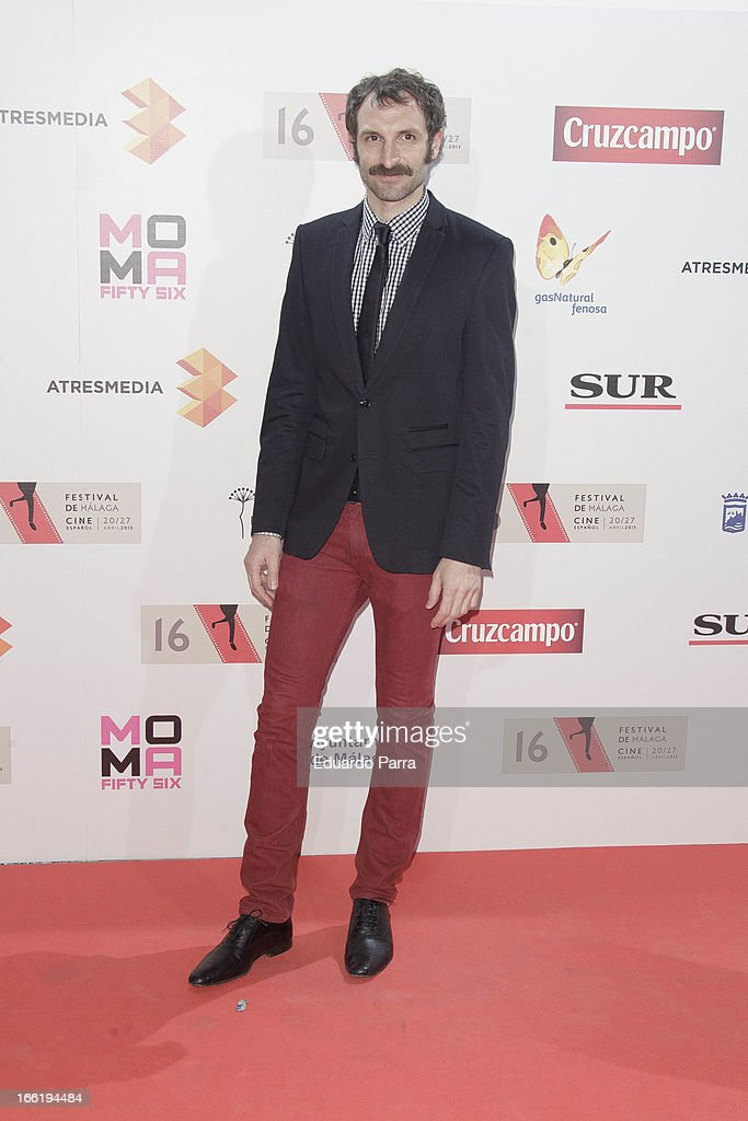 Julian Villagran attends Malaga Film Festival party photocall at MOMA 56 disco on April 9, 2013 in Madrid, Spain.