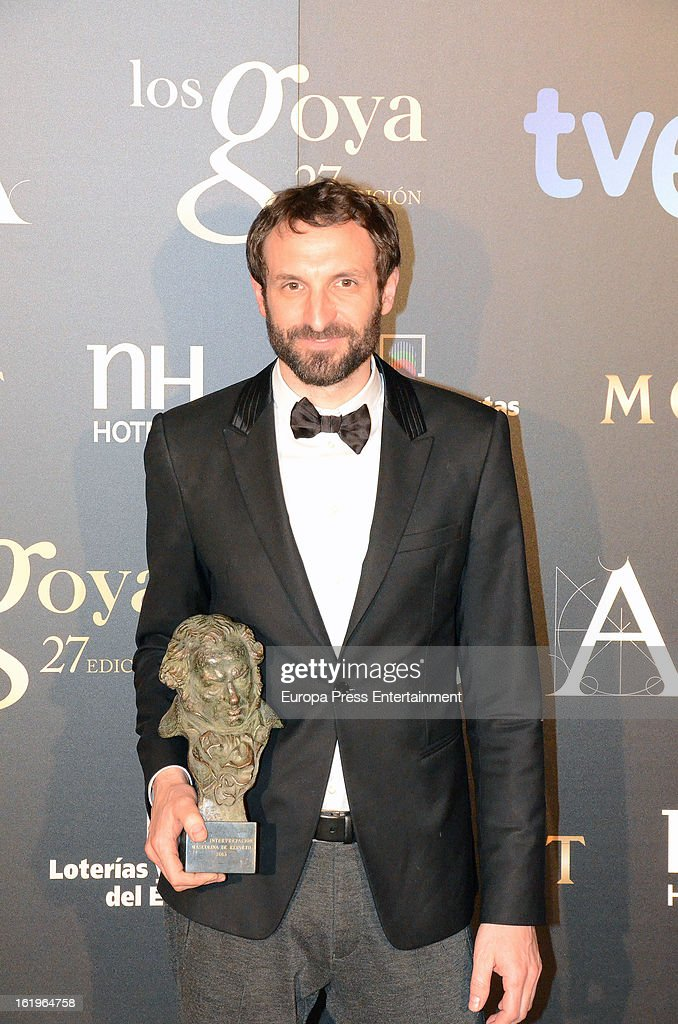 Julian Villagran attends the official 'Goya Cinema Awards After Party' 2013 at Casino de Madrid on February 17, 2013 in Madrid, Spain.