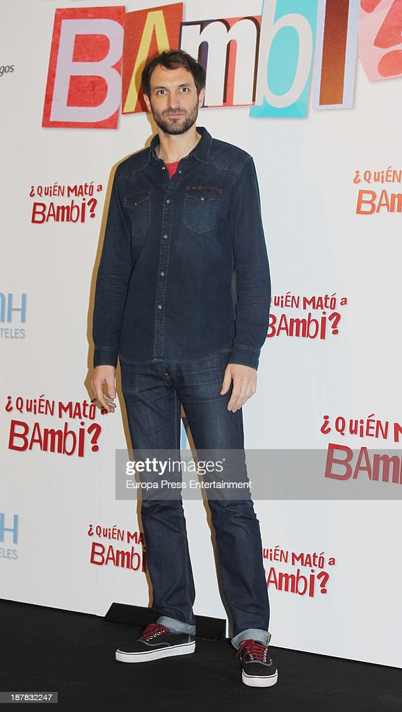 Julian Villagran attends the photocall of '¿Quien Mato a Bambi?' at Hesperia Hotel on November 12, 2013 in Madrid, Spain.