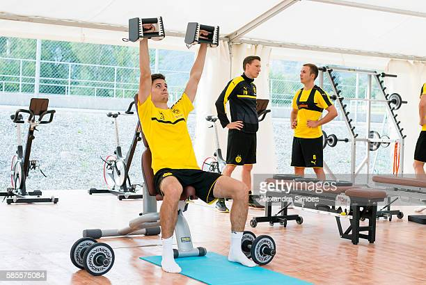 Julian Weigl of Borussia Dortmund during a training session on the training ground of Bad Ragaz during Borussia Dortmund's summer training camp 2016...