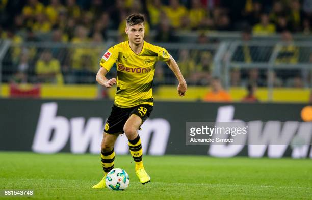 Julian Weigl of Borussia Dortmund during the Bundesliga match between Borussia Dortmund and RB Leipzig at Signal Iduna Park on October 14 2017 in...