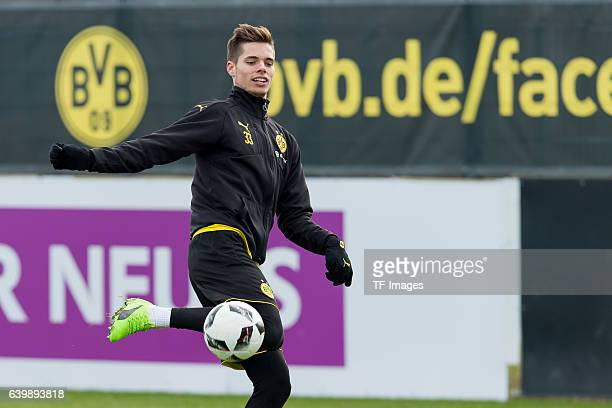 Julian Weigl of Borussia Dortmund in action during a training session at the BVB Training center on January 25 2017 in Dortmund Germany
