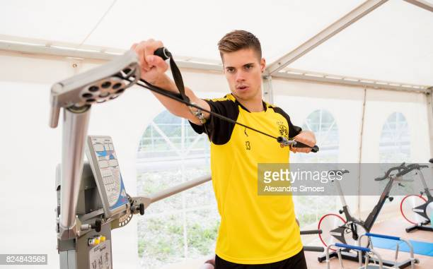 Julian Weigl of Borussia Dortmund in action during a training session as part of the training camp on July 31 2017 in Bad Ragaz Switzerland