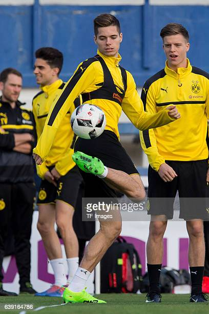 Julian Weigl of Borussia Dortmund in action during the sixth day of the training camp in Marbella on January 10 2017 in Marbella Spain