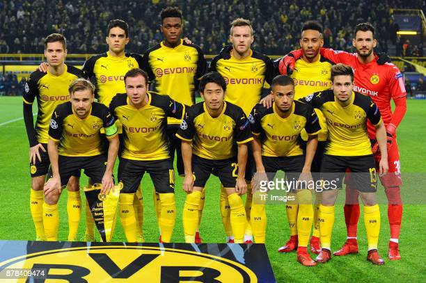 Julian Weigl of Borussia Dortmund Marc Bartra Aregall of Borussia Dortmund DanAxel Zagadou of Borussia Dortmund Andrey Yarmolenko of Borussia...