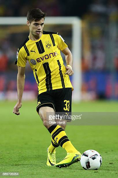Julian Weigl of Dortmund in action during DFL Supercup 2016 match between Borussia Dortmund and FC Bayern Muenchen at Signal Iduna Park on August 14...