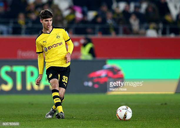 Julian Weigl of Dortmund runs with the ball during the friendly match between Borussia Dortmund and Sparta Prague at at Stadium Essen on January 19...