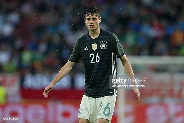 Julian Weigl of Germany looks on during the international friendly match between Germany and Slovakia at WWKArena on May 29 2016 in Augsburg Germany