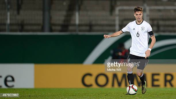 Julian Weigl of Germany runs with the ball during the 2017 UEFA European U21 Championships Qualifier between U21 Germany and U21 Austria at Stadion...