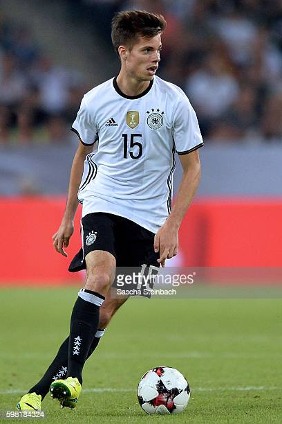 Julian Weigl of Germany runs with the ball during the international friendly match between Germany and Finland at BorussiaPark on August 31 2016 in...