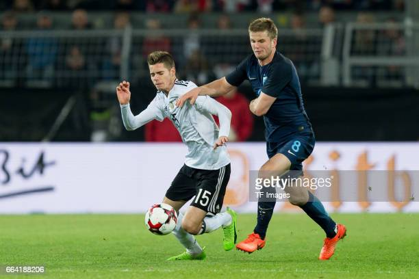 Julian Weigl of Germany und Eric Dier battle for the ball during the international friendly match between Germany and England at Signal Iduna Park on...