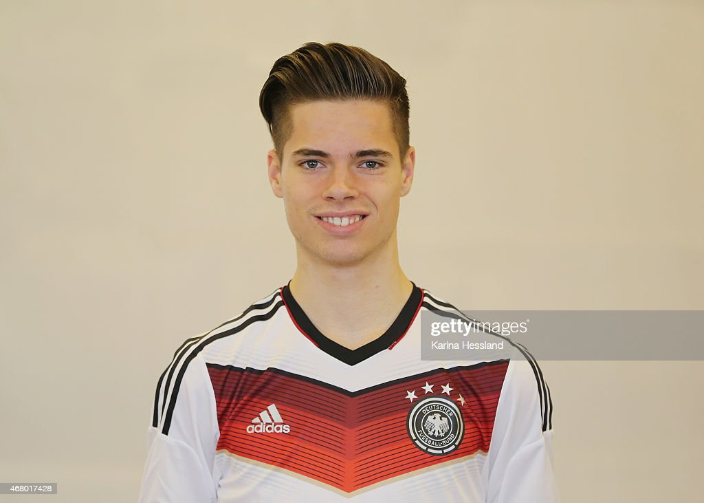 Julian Weigl of the German national team poses during the team presentation of U20 Germany on March 29 2015 in Jena Germany