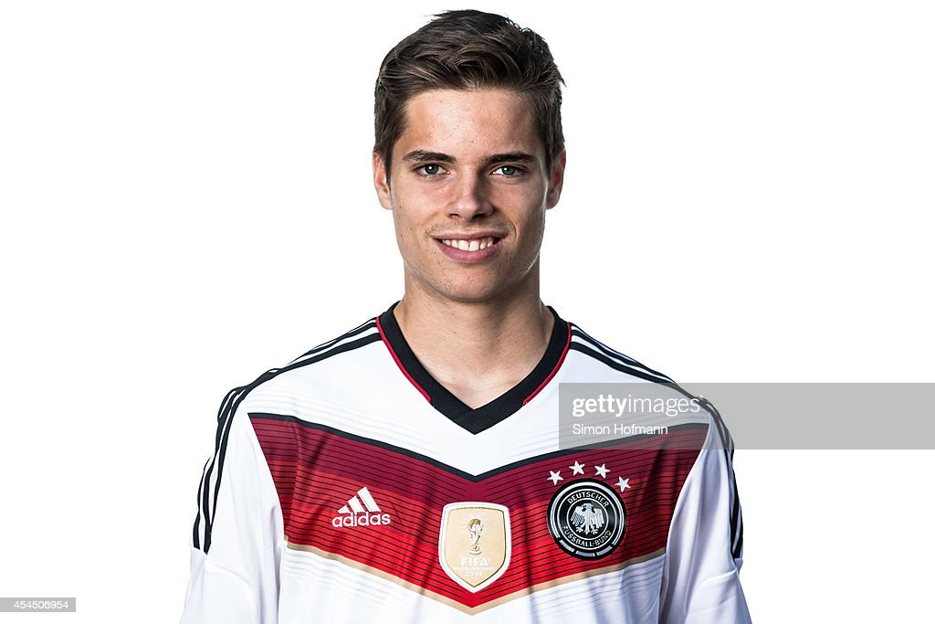 Julian Weigl poses during the team presentation of U20 Germany at Waldstadion on September 2, 2014 in Homburg, Germany.