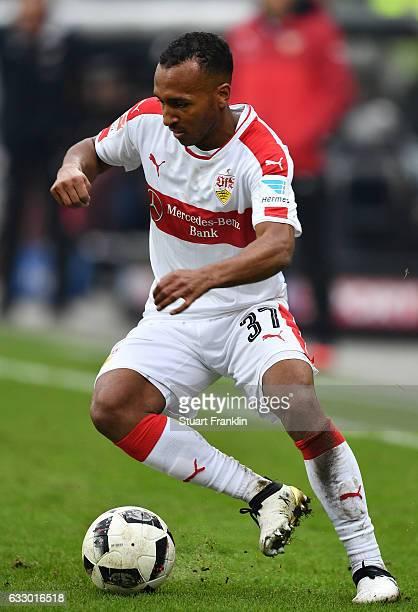 Julian Wesley Green of Stuttgart iin action during the Second Bundesliga match between FC St Pauli and VfB Stuttgart at Millerntor Stadium on January...