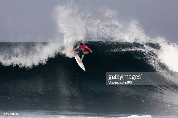 Julian Wilson from Australia performs during the Quicksilver Pro France surf competition on October 12 2017 in Hossegor France he French stage of the...