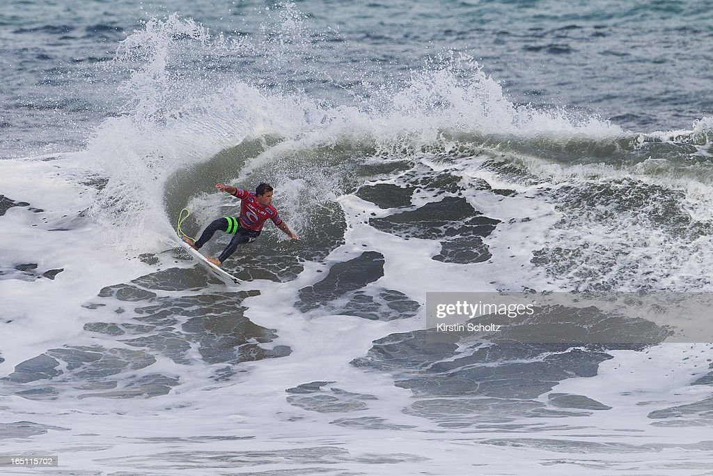 Julian Wilson of Australia placed equal 13th at the Rip Curl Pro on March 31, 2013 in Bells Beach, Australia.