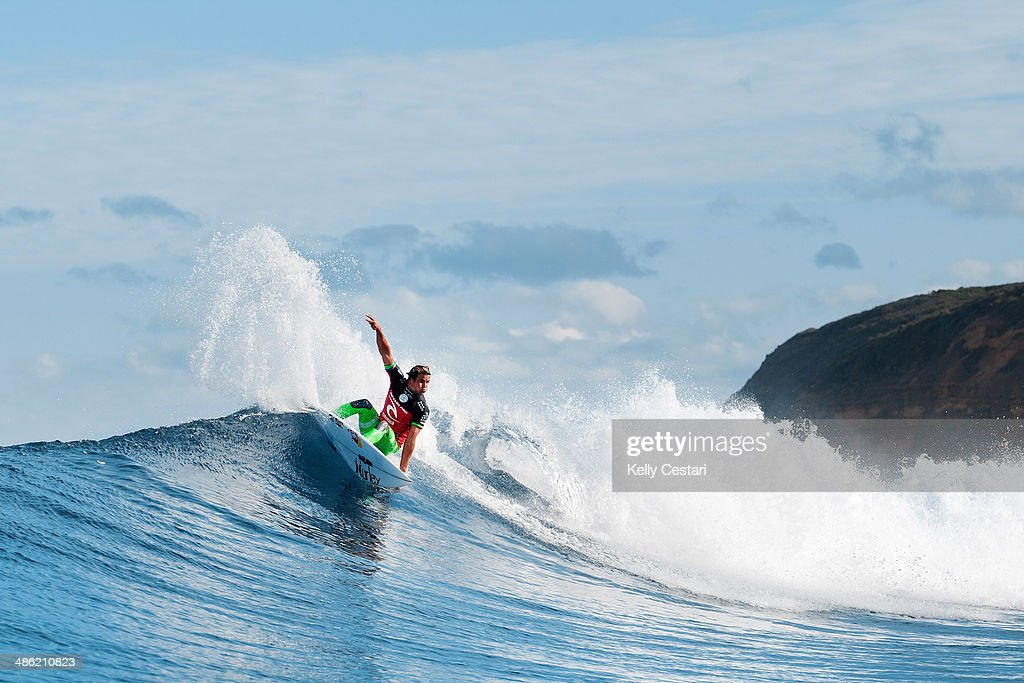 Julian Wilson of Australia placed equal 3rd in the Ripcurl Pro Bells Beach after being defeated by Mick Fanning of Australia in the semifinals on April 23, 2014 in Bells Beach, Australia.