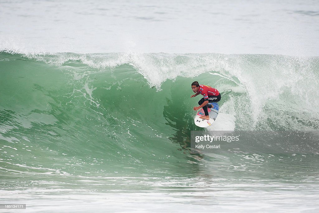 Julian Wilson of Australia placed equal 5th at the RipCurl Pro Portugal on October 17, 2013 in Peniche, Portugal.