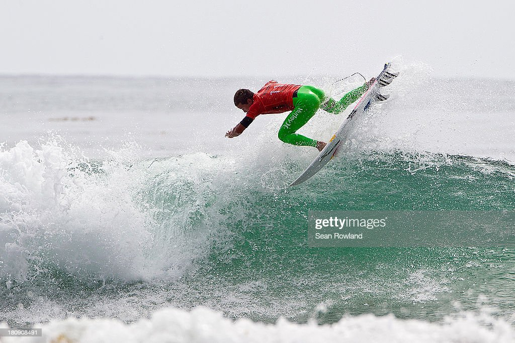Julian Wilson of Australia surfs during round three at the Hurley Pro on September 17, 2013 in San Diego, California.
