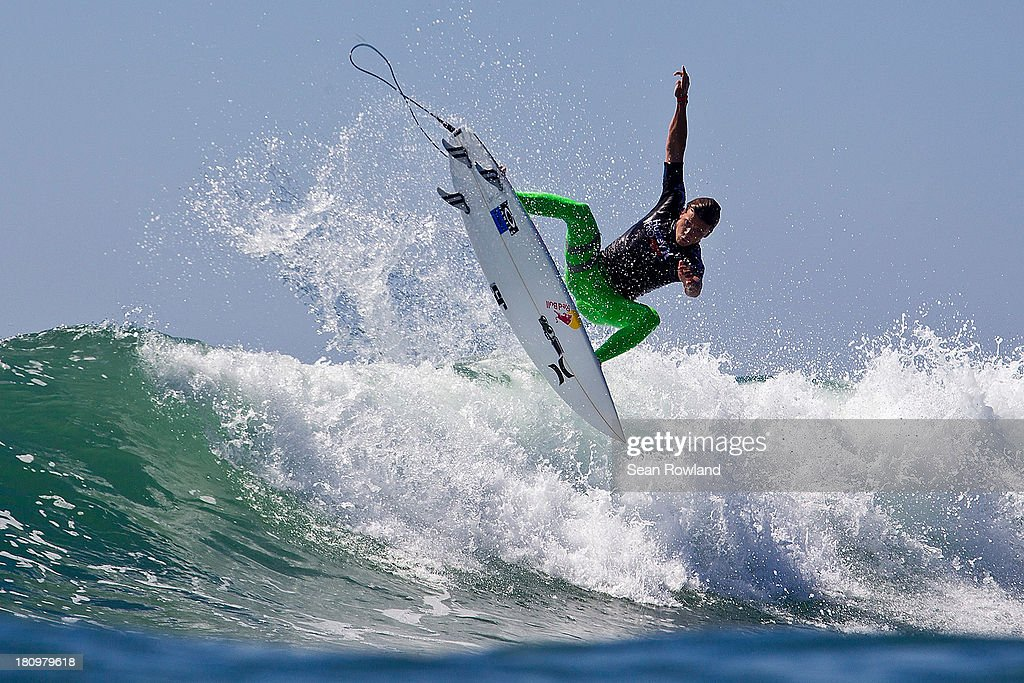 Julian Wilson of Australia surfs during the semifinals at The Hurley Pro on September 18, 2013 in San Diego, California.