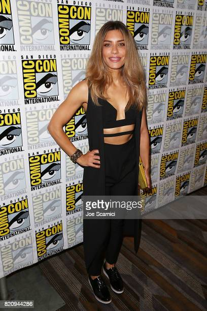 Juliana Harkavy arrives at the 'Arrow' press line at ComicCon International 2017 on July 22 2017 in San Diego California